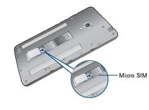 ZenfoneGO SIMカード挿入